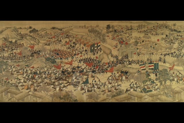 An-Important-Imperial-Nian-Rebellion-Battle-Painting-Siege-Of-Pingyu