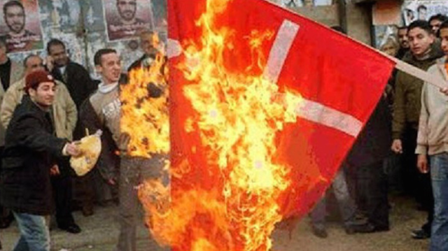 burningDenmarkFlag