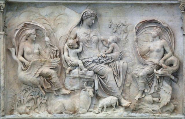 roman sculpture Tellus_-_Ara_Pacis