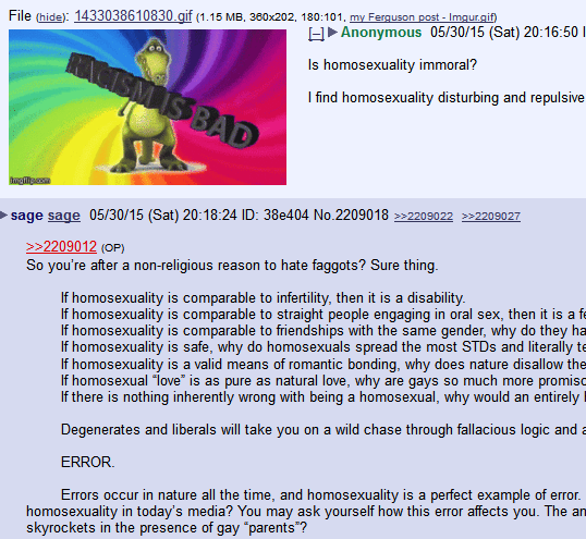 Non religious arguments against homosexuality